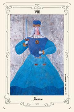 「正義」のタロットカード