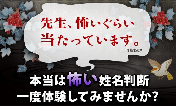 FBI捜査の実績を持つ、カリスマ占い師 川井春水監修の【七曜姓名鑑定】